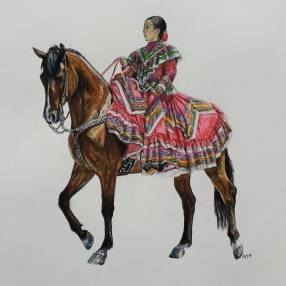 'Maria' Pencil Equine - Equus Collection